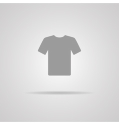 White Blank Tshirt Icon Symbol vector image