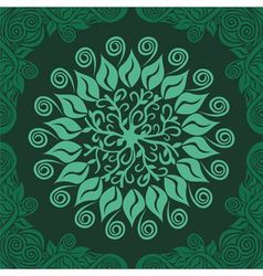 Floral nature pattern card green vector image