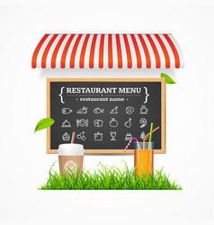 restaurant menu concept vector image