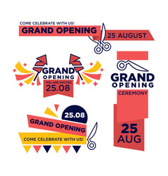 25 august grand opening ceremony bright vector image vector image