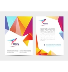 document letter or logo style cover vector image