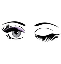 eyes blue vector image vector image