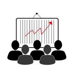 group of people and economic growth indicator vector image