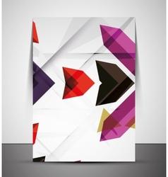 Multipurpose CMYK geometric print template vector image