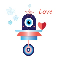 robot in love funny vector image vector image