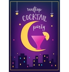 Rooftop Cocktail Party Invitation Card vector image vector image