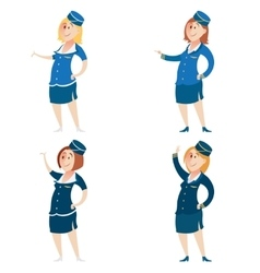 Set of Stewardess vector image