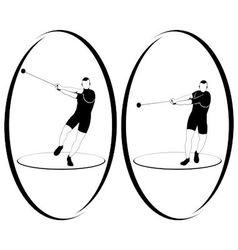 Athletics Hammer throwing vector image