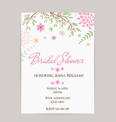 bridal shower invitation vector image vector image
