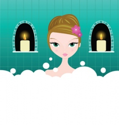 bubble bath vector image