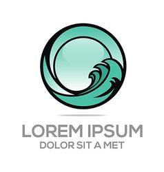 circle company o lettermark vector image