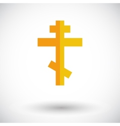 Cross single icon vector image