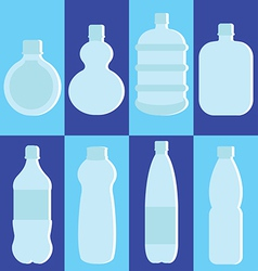 Set of water bottle vector image vector image