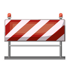 traffic barrier flat icon colorful silhouette with vector image vector image