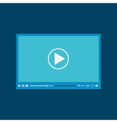 Video player for web flat design vector image