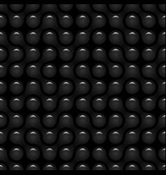 abstract black glossy metaballs path geometric vector image