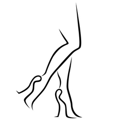 Abstract female legs in stylish footwear vector