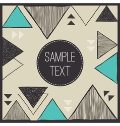 Abstract hand drawn triangle background Tribal vector