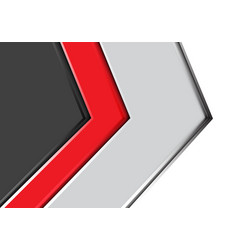abstract red gray arrow design modern futuristic vector image