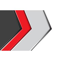 Abstract red gray arrow design modern futuristic vector