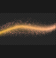 abstract shiny color golden design wave element vector image