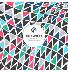 abstract triangles pattern retro color style on vector image