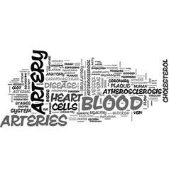 Arteries word cloud concept vector