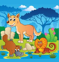 Australian animals theme 2 vector
