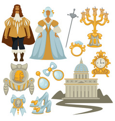 Baroque style fashion decor and architecture man vector