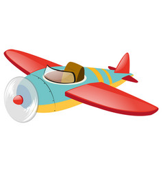 blue plane with red wings vector image