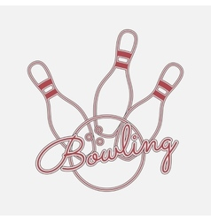 Bowling red Neon Logo vector