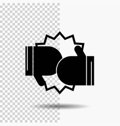 box boxing competition fight gloves glyph icon on vector image