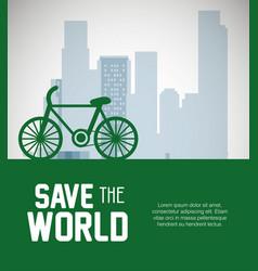 buildings ecology green city scene vector image