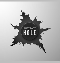 bullet hole banner torn metal surfase vector image