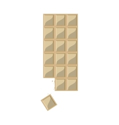 candy white chocolate bar icon vector image