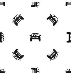 car pattern seamless black vector image