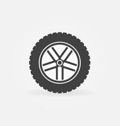 car wheel symbol or icon vector image