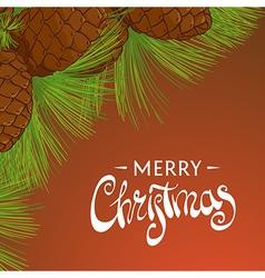 Christmas cedar cones vector