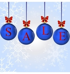Christmas sale in colorful balls vector