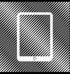 Computer tablet sign icon hole in moire vector