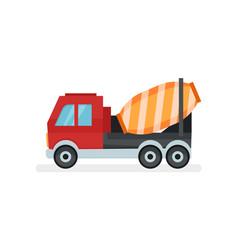 concrete mixer truck equipment using in vector image