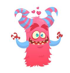 cute monster giving a hug vector image