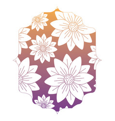 Decorative frame with floral design vector