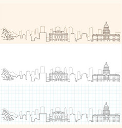 denver hand drawn skyline vector image