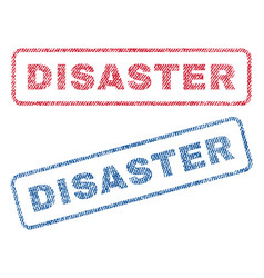 Disaster textile stamps vector