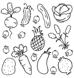 Doodle of vegetable collection stock vector