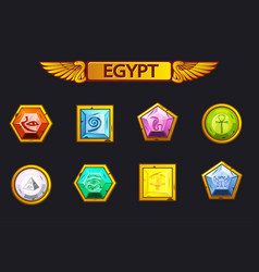 Egypt precious and multi-colored stones game vector