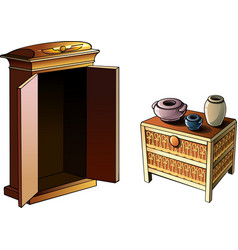egyptian furniture vector image