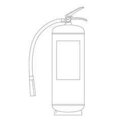 extinguisher lining draw vector image