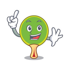 Finger ping pong racket mascot cartoon vector